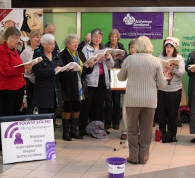 Carol singing at the Loreburne Centre 2015